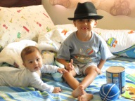One of David's favorite pictures of the boys. Taken the Sunday Mom, Leon and Aunt Karen left.