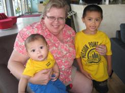 Grammie and 'Da Boys' all together -- for the first time!