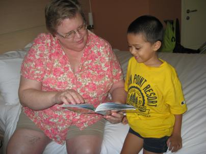 Grammie and Jacob reading
