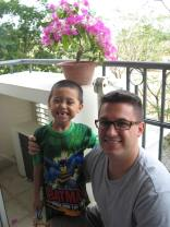 Jacob and Dad on the balcony
