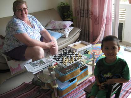 Playing chess with Grammie
