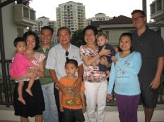 All of Lam's fam and us.