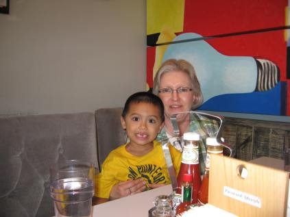 At NYDC Cafe in Phu My Hung (our local area) for Jacob's birthday.