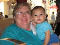Grammie and James - they match!