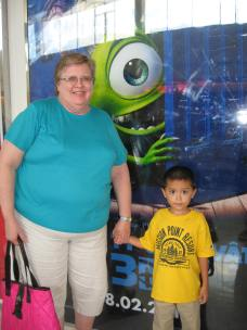 Grammie and Jacob - they went to see Monsters, Inc in 3D.