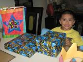 Jacob's birthday gifts!