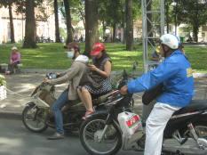 Typical Saigon traffic.