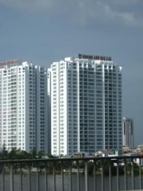 A typical apartment building in Saigon.