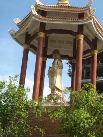 A statue of Quan Yin at a Buddhist temple.