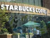 The first Starbucks in Vietnam - there's a line just to get in!