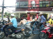 Sit Lo - the bike taxi.