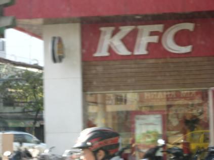 Yes, KFC is here.