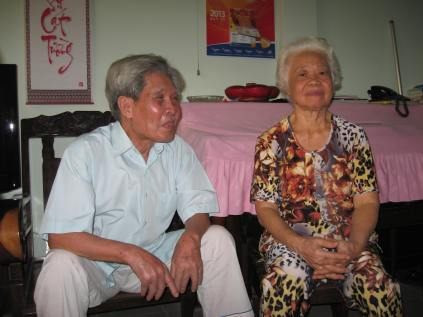 Lam's maternal Grandfather and Grandmother. 85 and 73, respectively.
