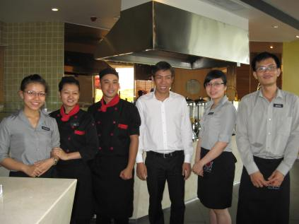 The hotel staff where they stayed.
