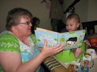 Grammie reading to James - he loves it!