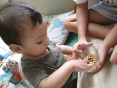 James loves Cheerios now.