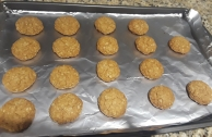 We made these oatmeal cookies together yesterday. They enjoy helping me bake cookies and pies.