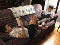 Boys reading
