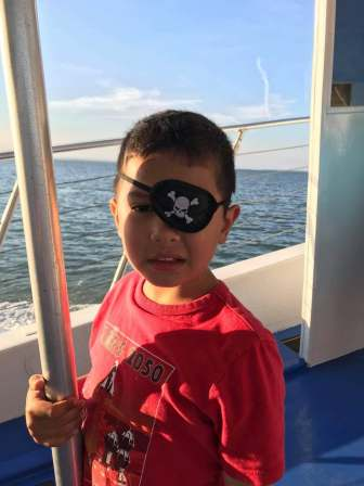 pirate James on dolphin tour